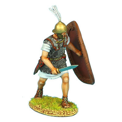 ROM065 - Caesarian Roman Legionary with Gladius and Shield Cover