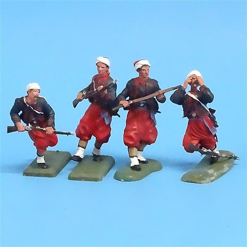 CORD-324 -Union Zouaves (4 Figures) - Unknown Manufacturer - 54mm Metal - No Box