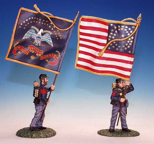 MRI.6 - 2 Bearers, Stars and Stripes, Regimental Standard, 20th Maine