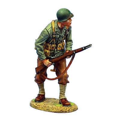 NOR039 - US 4th ID Private Standing with M1 Garand
