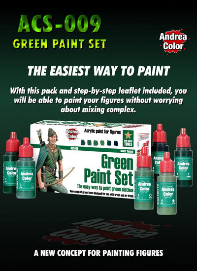 ACS-009 - Green Paint Set - Andrea Color