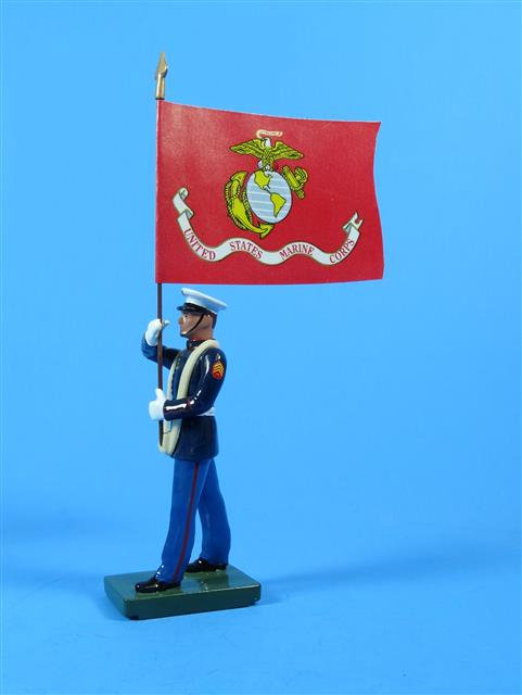 43035 - US Marine Standard Bearer - USMC Flag