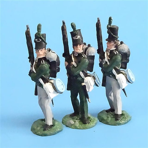 CORD-N0126 - 95th Rifles - Port Arms (3 Pieces) - All the King's Men  54mm Metal