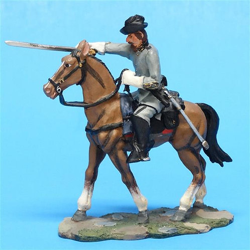 MI-401 - Confederate Officer Charging - ACW - Brtiains - 54mm Metal - No Box