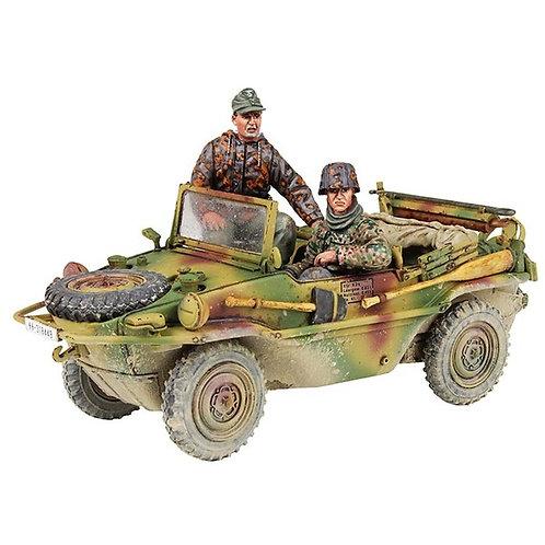25051 - WWII German Type 166 Schwimmwagen & Crew, 12th SS Division