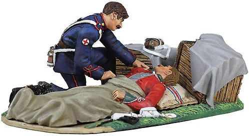 20121 - Evacuation of the Hospital No.6 24th Foot Lying Wounded and Attendant