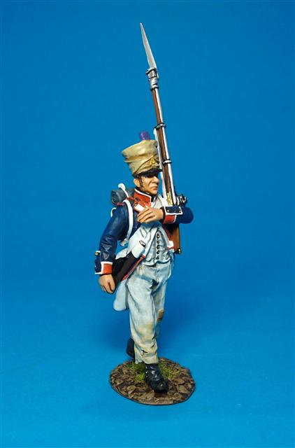 PFL-07W Fusilier Marching #3W French Line Infantry, 1807  66th Line, 4th Company
