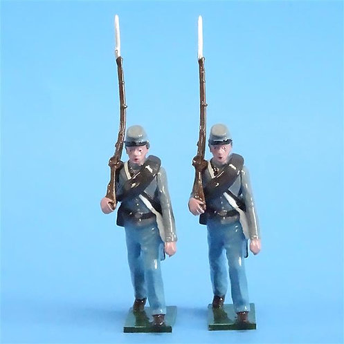 CORD-0743 - Confederates Marching (2 Figures) - ACW - Tradition - 54mm Metal