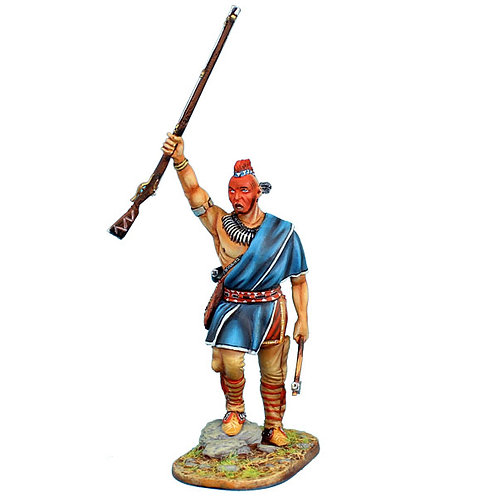 AWI088 - Woodland Indian Chief with Raised Musket