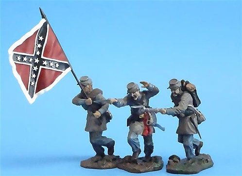 CORD-0708 Confederates Advancing (3 Figures) - ACW - Collector's Showcase - 60mm