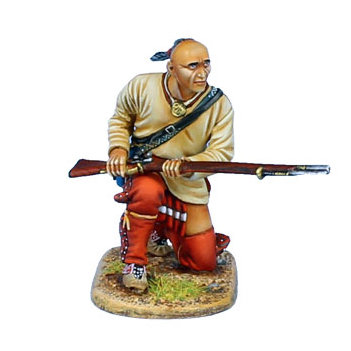 AWI100 - Woodland Indian Warrior Kneeling with Musket