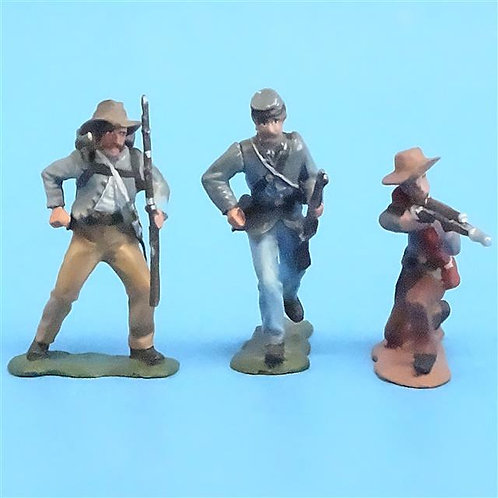 CORD-0754 - Confederate Soldiers (3 Figures) - ACW - Unknown Manufacturer - 54mm