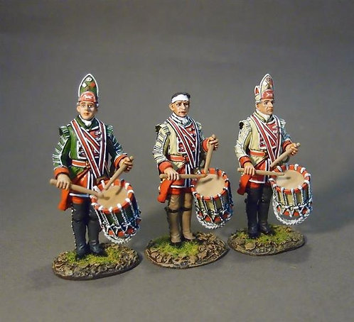 QBLG-02D -Louisbourg Grenadiers  45th, 22nd, and 40th Regiments of Foot Drummers