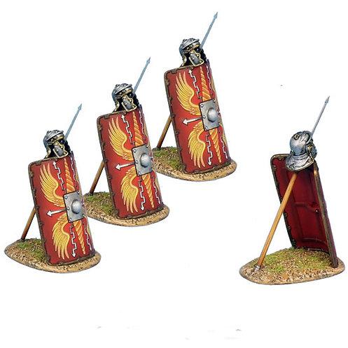 ROM170a - Imperial Roman Shield with Pilum & Helmet - 3 Pieces - Legio I Minerva