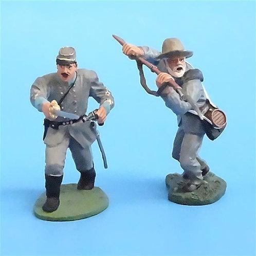 CORD-0655 - Confederates Advancing (2 Figures) - ACW - Britains - 54mm Metal