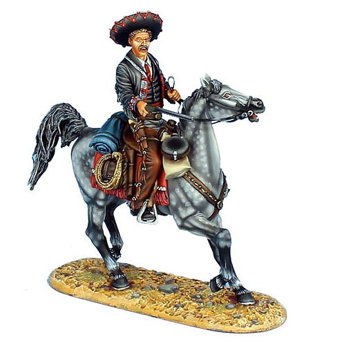 WW010 - Mounted Mexican Gunfighter with 1860 Henry Rifle