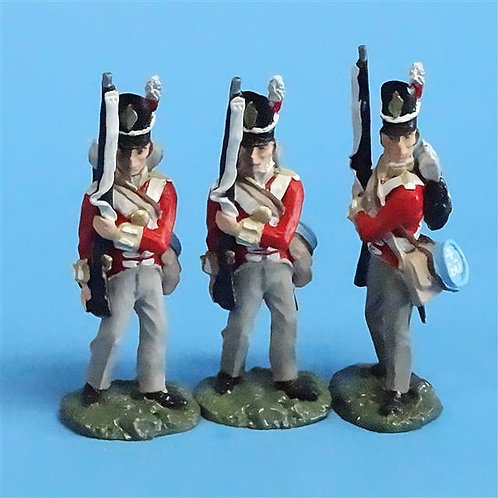 CORD-N0131 - British Infantry - Port Arms (3 Pieces) - All the King's Men  54mm