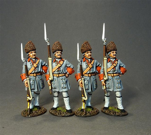 QF-38BN - Bearn Grenadiers in Bearskins Waiting in Reserve Set #1 -  4 Figures