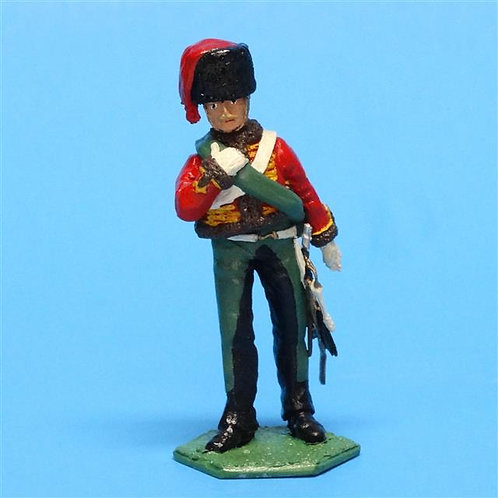 MI-379 - French Hussar Dismounted - New Hope Design - 54mm Metal - No Box