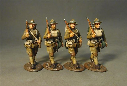 GWUS-10N U.S. Marines Corps, Marching Set 1 (4pcs) American Expeditionary Forces