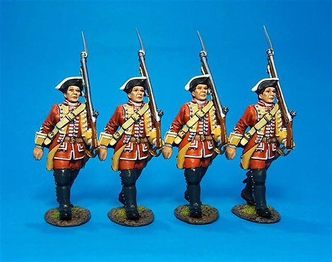 QB-35N - 4 Line Infantry Marching Boxed Set #1  British 35th Regiment of Foot