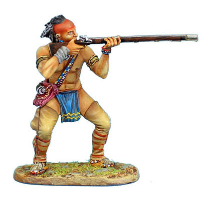 AWI085 - Woodland Indian Standing Firing Musket