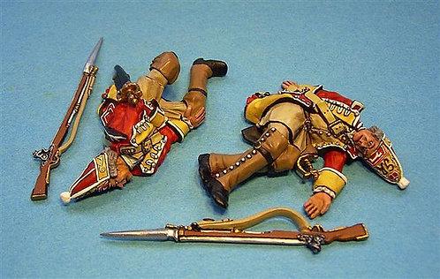 BM-27 - 44th Regiment of Foot, British Grenadiers, 2 Casualties (4pcs)