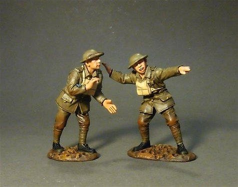 GWB-33 - Two Crew Aiming  The Royal Garrison Artillery,  Battle of Amiens