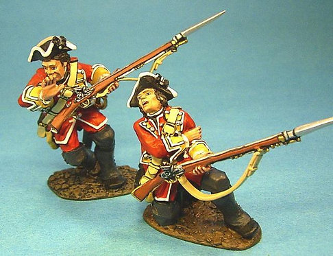 QB-24 - 28th Regiment of Foot 2 Wounded British Line Infantry Firing (2pcs)