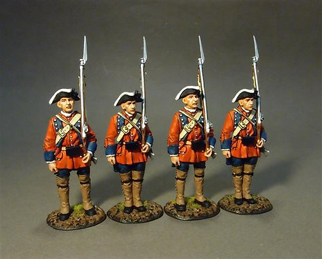 RRB60-07N - 60th (Royal American) Regiment of Foot, Line at Attention 2 Set