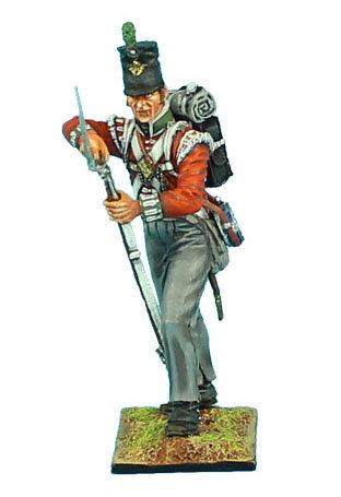 NAP476 -British 51st Light Infantry Regiment Standing Loading #1 - Waterloo 1815