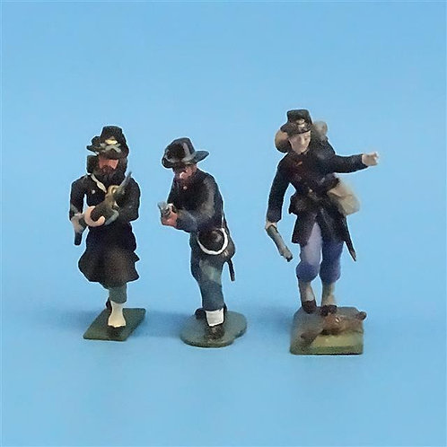 CORD-191 Iron Brigade Advancing (3 Figures) - Manufacturer Unknown - 54mm Metal