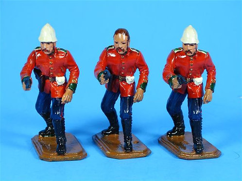 MI-058 - 3 Zulu Wars British 24th Foot Officers - Manufacturer Unknown
