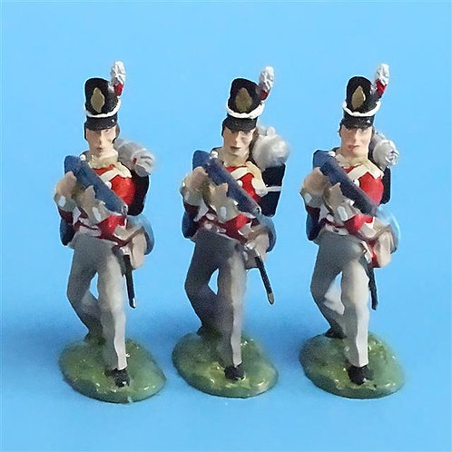 CORD-N0166 - British Infantry - Standing Firing (3 Pieces) - All the King's Men