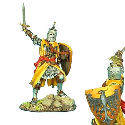 CRU070 - Crusader Knight with Brienne Family Heraldry
