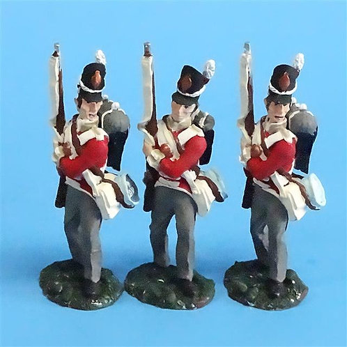 CORD-N0164 - British Infantry - Port Arms (3 Pieces) - All the King's Men  54mm