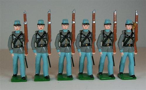A331 - Confederates Marching - 6 pieces
