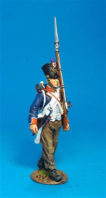 PFL-05B  Fusilier Marching #1B French Line Infantry, 1807 66th Line, 4th Company