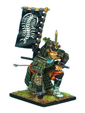 SAM030 - Samurai Messenger with Sashimono - Takeda Clan - Nagashino 1575