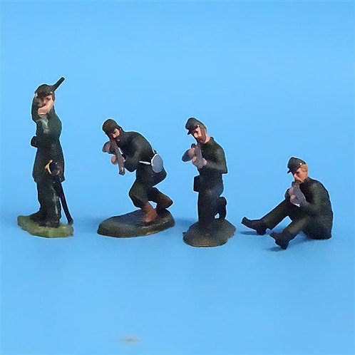 CORD-052 -Berdan's Sharpshooters Firing (4 Figures) - LeMans 54mm Metal - No Box