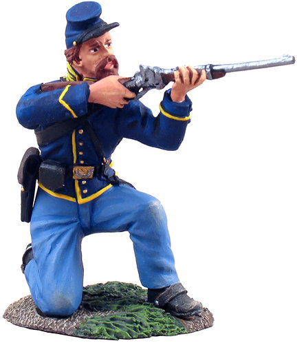 31061 - Union Cavalry Trooper Dismounted Kneeling Firing No.1