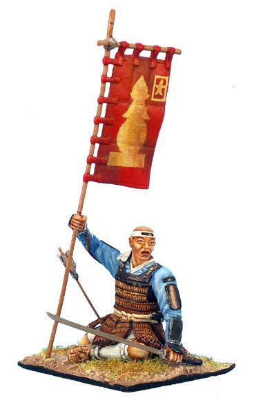 SAM007 - Wounded Ikko-Ikki Monk with Banner