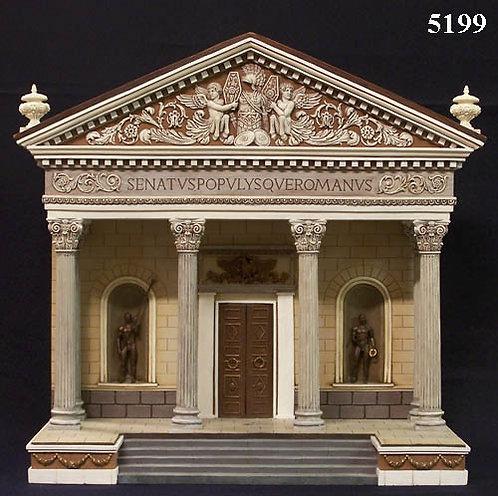 "5199 - Roman Senate Façade (14"" x 14"" x 8"")"