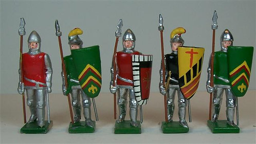 M105A - Medieval Men-at-Arms Mixed Lot - 5 pieces