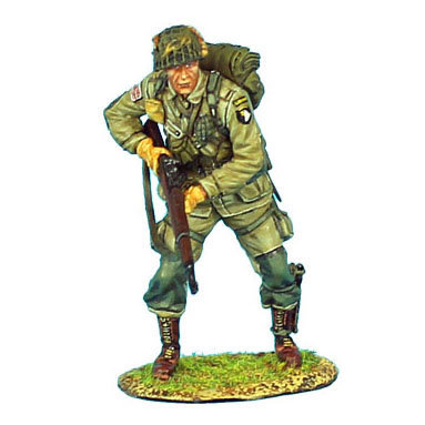 NOR006 - 101st Airborne Paratrooper Standing with M1 Garand