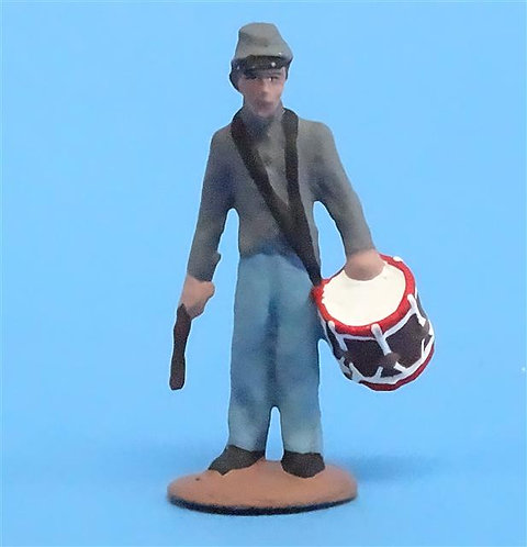 CORD-0776 Confederate Drummer - ACW - Unknown Manufacturer - 54mm Metal - No Box