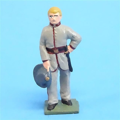 CORD-0846 Confederate Officer - ACW - Unknown Manufacturer - 54mm Metal - No Box