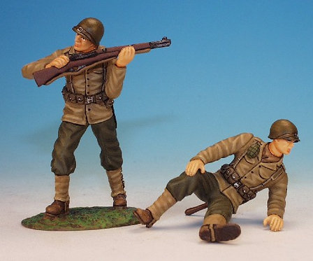 WUSI.7 - 1 Wounded and 1 Fighting Infantrymen