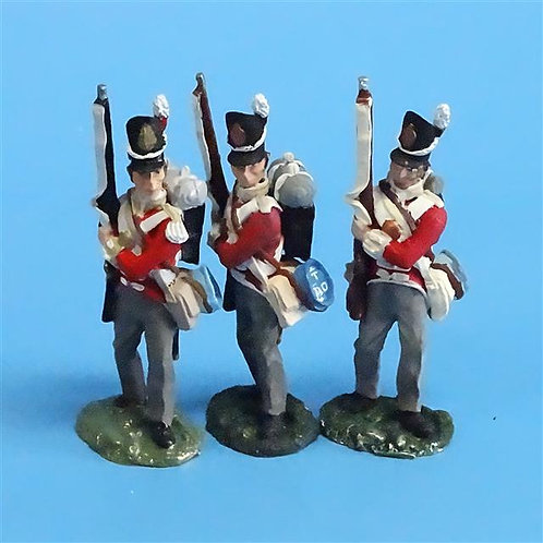 CORD-N0140 - British Infantry - Port Arms (3 Pieces) - All the King's Men  54mm