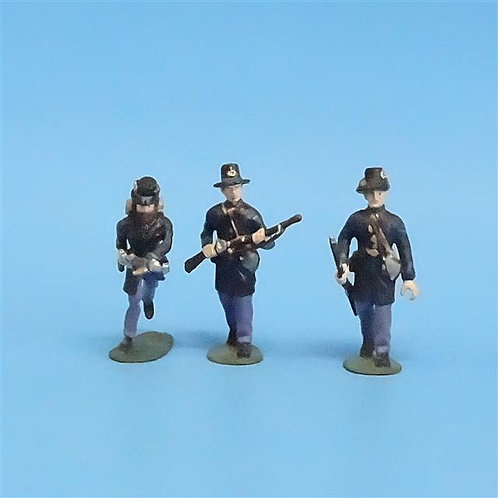 CORD-197 - Iron Brigade (3 Figs) - Manufacturer Unknown - 54mm Metal - No Box